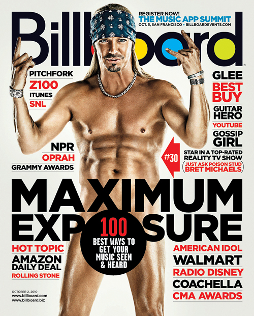 Bret Michaels Naked Billboard cover