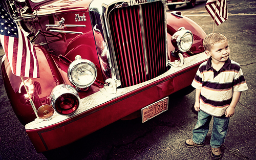 Kid with Firetruck