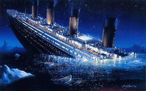 titanic-sink
