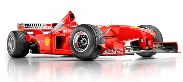 Michael Schumacher's Formula 1 Race Car photographed by Blair Bunting