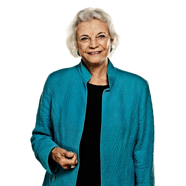Sandra Day O' Connor photographed by Blair Bunting