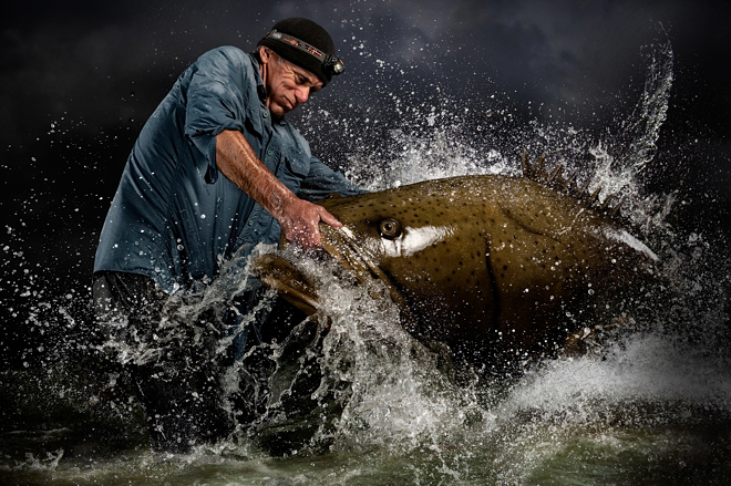 River Monsters host Jeremy Wade photographed by Blair Bunting