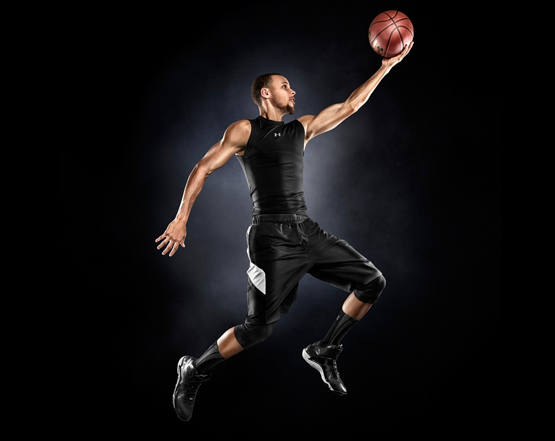 Stephen Curry photographed by advertising photographer Blair Bunting