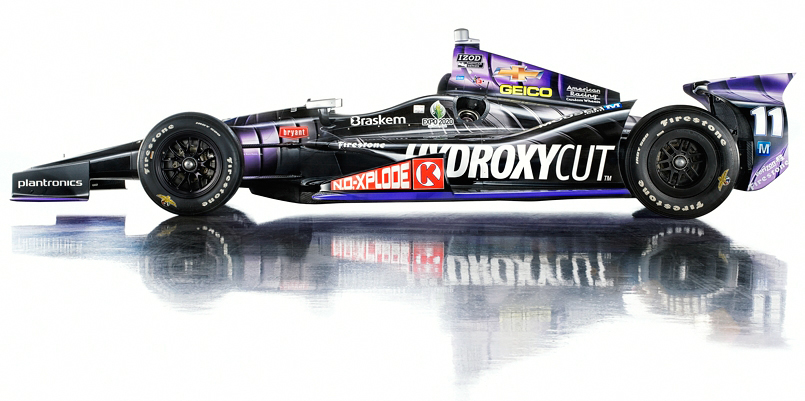 Tony Kanaan's 2013 Indy 500 winning race car photographed by Blair Bunting.