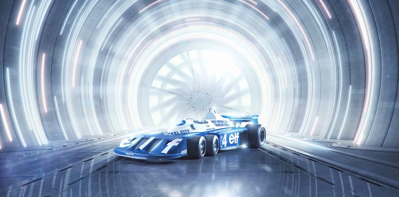 Terrell 6 Wheel F1 car