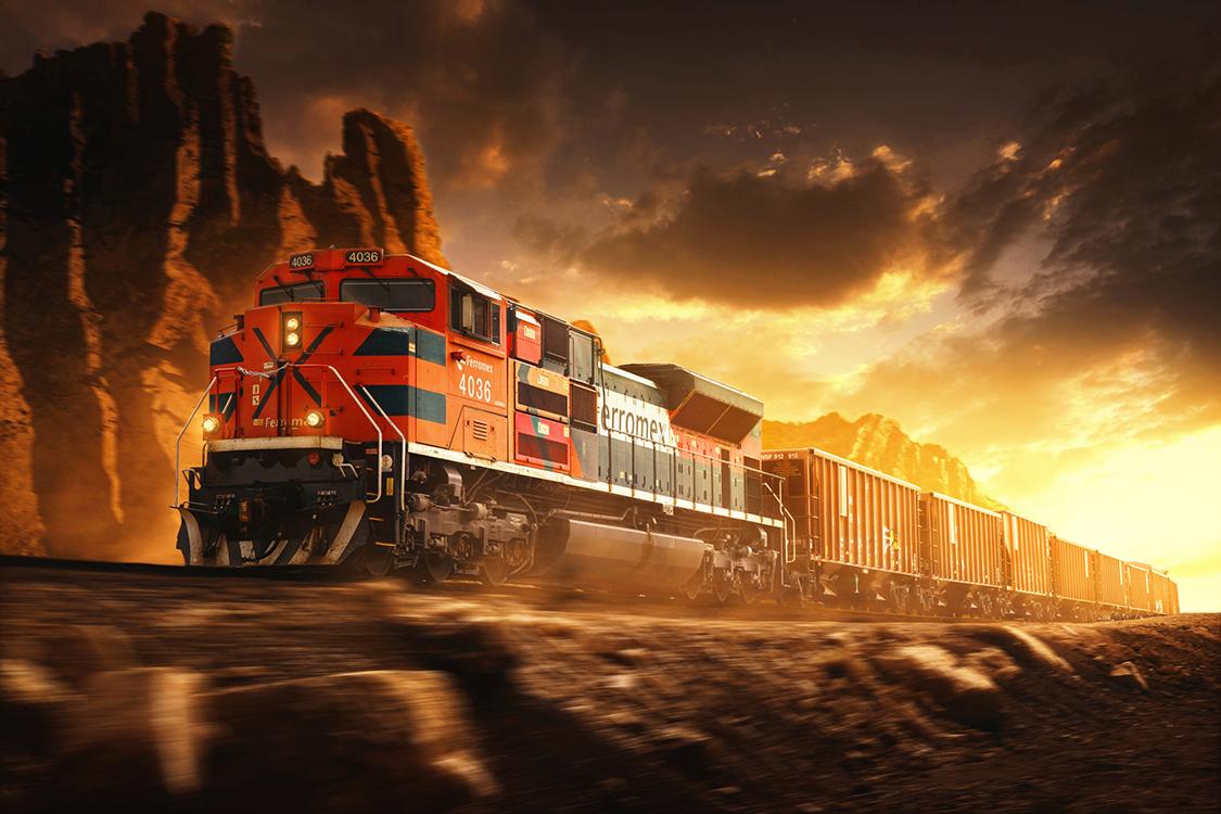 Ferromex Freight Train