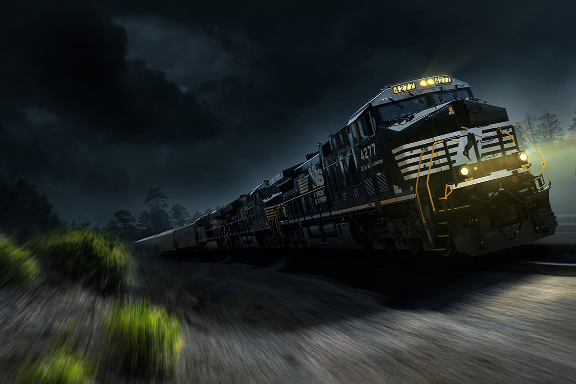 Norfolk Southern Freight Train photographed by Advertising Photographer Blair Bunting in Arizona.